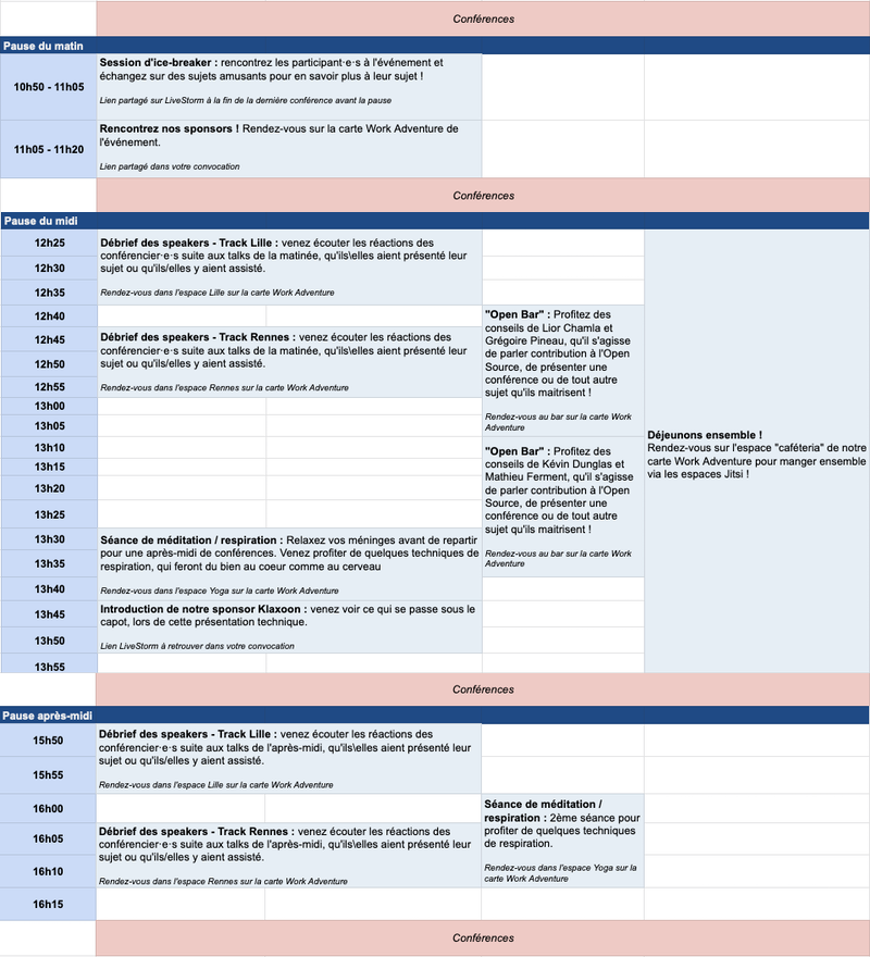 planning des contenus exclusifs du 28 mai