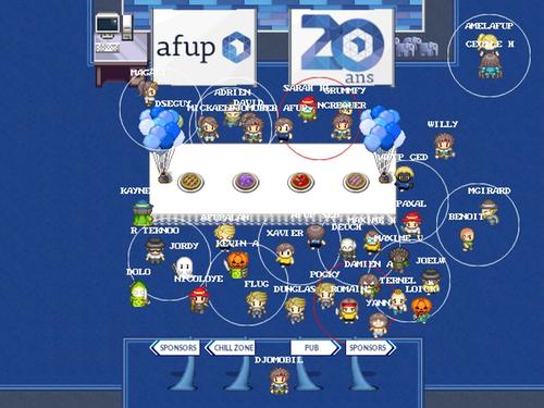 capture d'écran de la carte Work Adventure au Forum PHP 2020